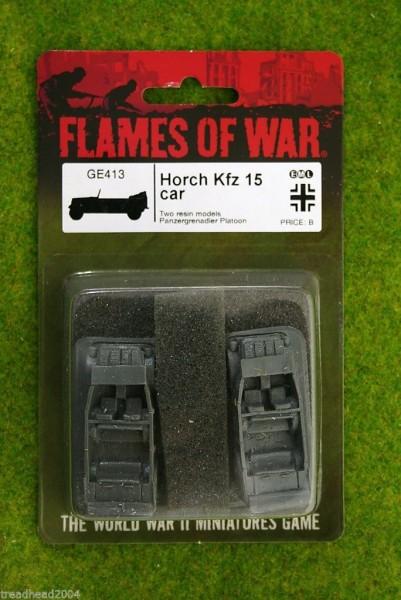 Flames of War GERMAN Horch KFZ15 Car 15mm GE413