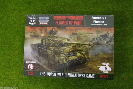 Flames of War GERMAN PANZER IV J PLATOON 15mm GBX68