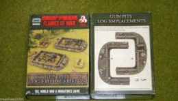 Flames of War GUN PITS LOG EMPLACEMENTS painted tabletop terrain 15mm BB119