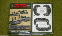 Flames of War LOG EMPLACEMENTS DUG IN MARKERS painted terrain 15mm BB107
