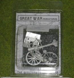 GREAT WAR MINIATURES British 13 PDR GUN Mk1  28mm GUN1