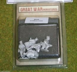 GREAT WAR MINIATURES British Artillery Crew B112 Early War 1914 28mm
