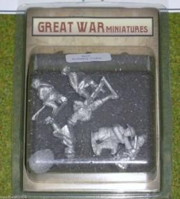 GREAT WAR MINIATURES British Artillery Crew B21 28mm