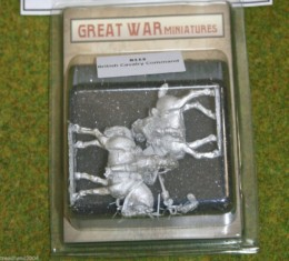 GREAT WAR MINIATURES British Cavalry Command 1914 early War B113 28mm