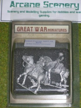 GREAT WAR MINIATURES British Cavalry Command B22 28mm