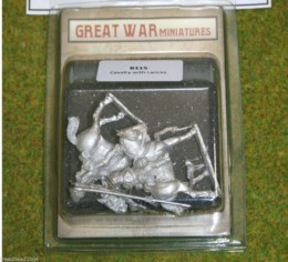 GREAT WAR MINIATURES British Cavalry w. Lances 1914 Early War B115 28mm