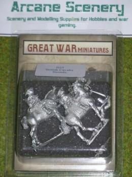 GREAT WAR MINIATURES British Cavalry w. Swords B23 28mm