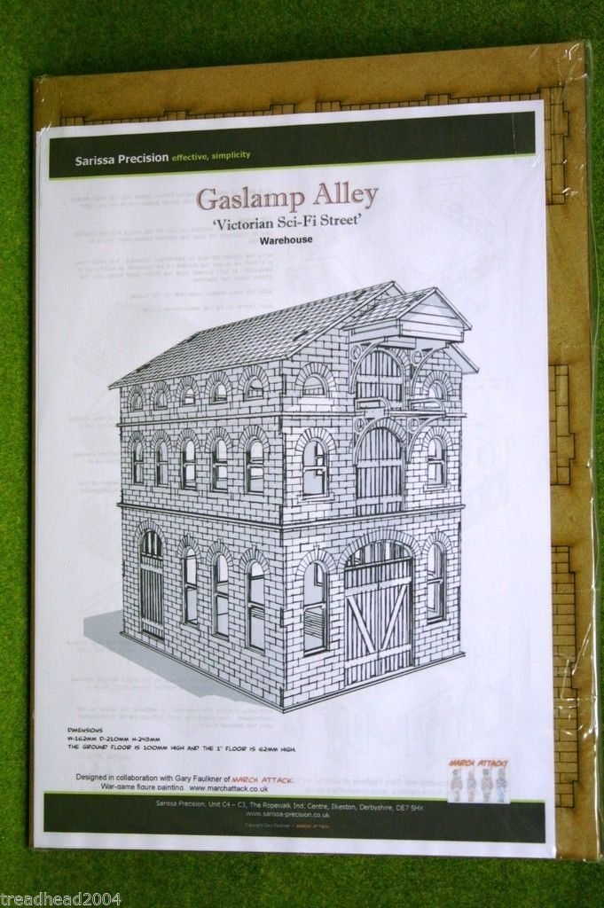 Gas Lamp Alley Victorian Warehouse Mdf Scale Building 28mm