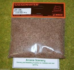 Gaugemaster BROWN Scatter or Modelling Flock 50gms bag GM108