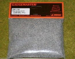 Gaugemaster GREY TARMAC Scatter or Modelling Flock 50gms bag GM116