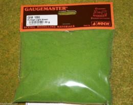 Gaugemaster LIGHT GREEN FOLIAGE or Modelling Flock 30gms Bag GM150