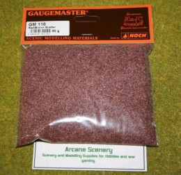 Gaugemaster RED BROWN Scatter or Modelling Flock 50 gm bag GM110