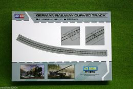 German RAILWAY CURVED TRACK 1/72 Scale Hobby Boss 82910