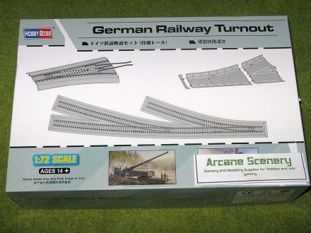 German RAILWAY TURNOUT 1/72 Scale Hobby Boss 82909