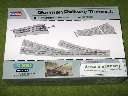 German RAILWAY TURNOUT 1/72 Scale Hobby Boss 82909
