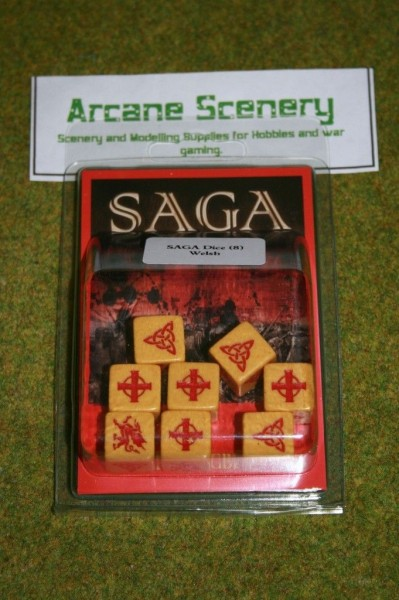 Saga Dice WELSH DICE SET Gripping Beast