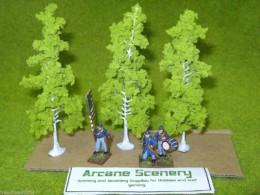 HEKI BIRCH Trees set of 3 13.5 cms tall D