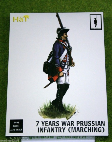 HaT 7 YEARS WAR PRUSSIAN INFANTRY MARCHING POSE 1/32  9401