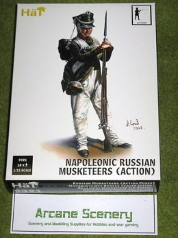 HaT NAPOLEONIC RUSSIAN MUSKETEERS ACTION 1/32  9321