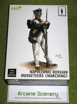 HaT NAPOLEONIC RUSSIAN MUSKETEERS MARCHING 1/32  9320