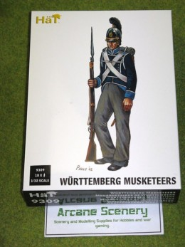 HaT WURTTEMBERG MUSKETEERS 1/32 SCALE 9309