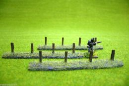 Javis Countryside scenics FENCE POSTS for Wire Fences 1/72nd scale to 28mm JPOST