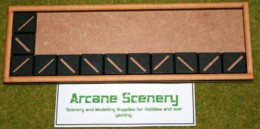 MDF laser cut MOVEMENT TRAY (10×3) 25mm Infantry Bases