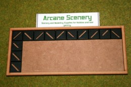 MDF laser cut MOVEMENT TRAY (10×4) 20mm Infantry Bases