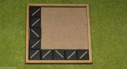 MDF laser cut MOVEMENT TRAY (5×5) 20mm Infantry Bases