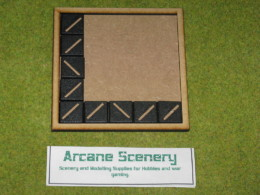 MDF laser cut MOVEMENT TRAY (5×5) 25mm Infantry Bases