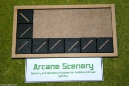 MDF laser cut MOVEMENT TRAY (6×3) 20mm Infantry Bases