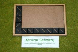 MDF laser cut MOVEMENT TRAY (8×5) 20mm Infantry Bases
