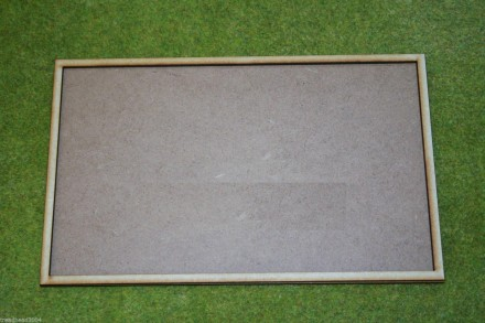 MDF laser cut MOVEMENT TRAY  for (10×3) 25mm x 50mm Cavalry Bases or (10×6) 25mm