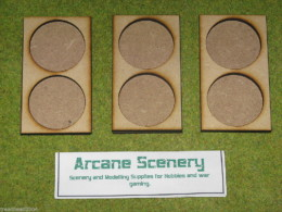 MDF laser cut set of 3 MOVEMENT TRAYS for 40mm round Bases LOTR