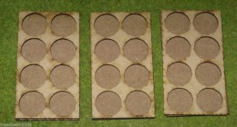 MDF laser cut set of three MOVEMENT TRAYS for 25mm round Bases LOTR