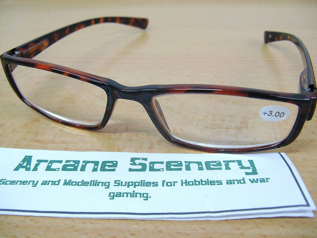 Eyeglass Frames Paint : MODELLING & PAINTING GLASSES OR READING SPECTACLES T/Shell ...