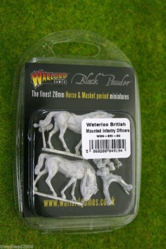 Mounted Waterloo British Infantry Officers Black Powder 28mm Napoleonic Wars