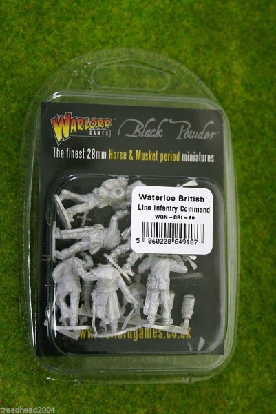 Napoleonic British Line Infantry Command (Waterloo campaign) Black Powder 28mm