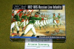 RUSSIAN LINE INFANTRY 1812-1815 Warlord Games Black Powder 28mm Napoleonic