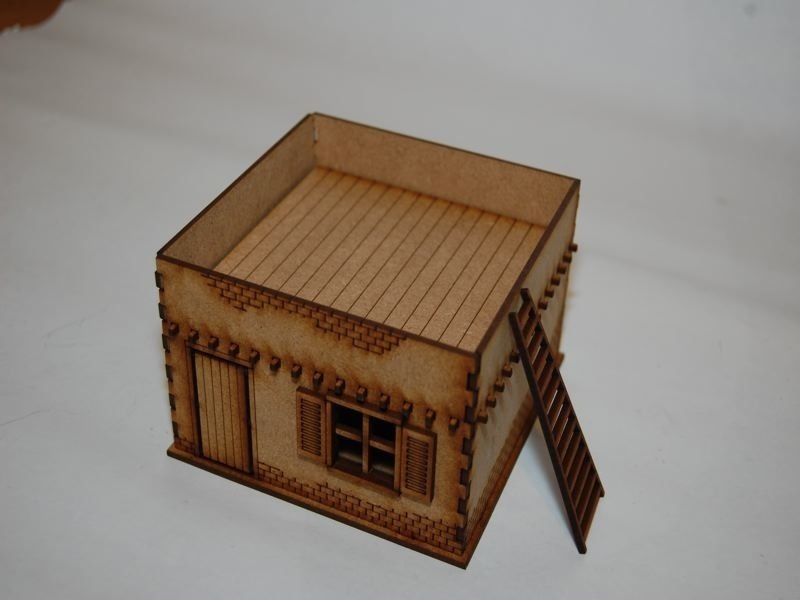 Old west cowboy building adobe house 1 25mm 28mm terrain for Building an adobe house
