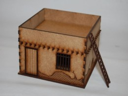 Old West Cowboy Building ADOBE JAIL 25mm, 28mm Terrain A001