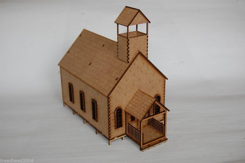 Old West Cowboy Building Church School House 25mm 28mm