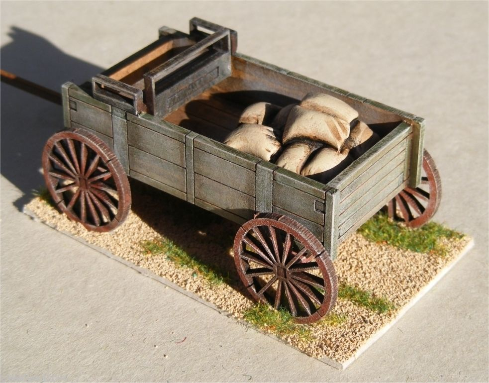 Old West Cowboy Planked Wagon Accessory Pack 25mm 28mm