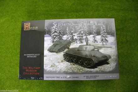 Pegasus 1/72 WW2 T-34/76 Soviet Battle Tank 7661