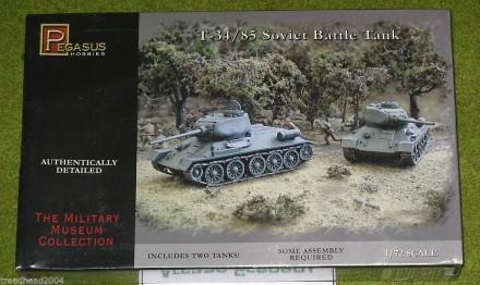 Pegasus 1/72 WW2 T-34/85 Soviet Battle Tank 7662