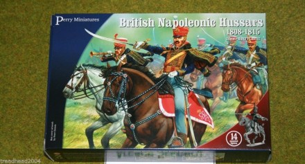 Perry Miniatures BRITISH NAPOLEONIC HUSSARS 28mm plastic set