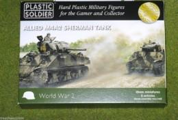 Plastic Soldier Company WW2 ALLIED M4A2 SHERMAN TANK 15mm