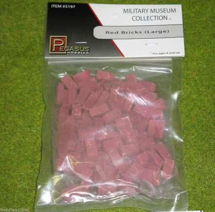 RED BRICKS (LARGE) 5197 Wargames scenery & terrain 28mm