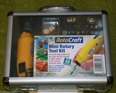 ROTACRAFT MINI ROTARY TOOL KIT & DRILL SET 19501