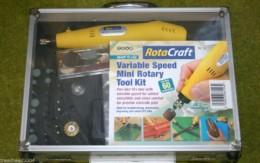ROTACRAFT VARIABLE SPEED MINI ROTARY TOOL KIT & DRILL SET 19500